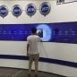 55寸4×1弧形触摸屏拼接屏入驻某规划馆